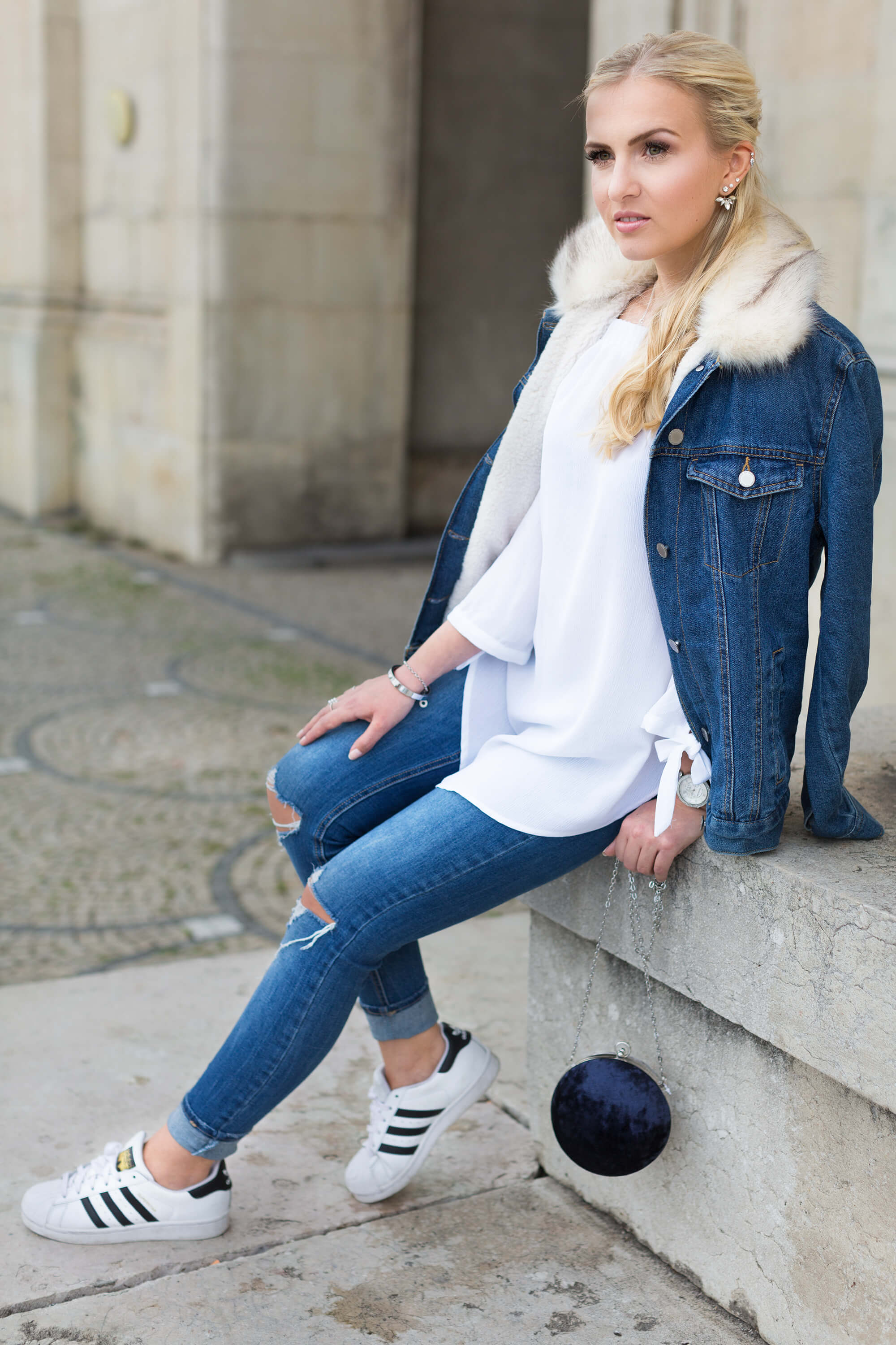 Double Denim Look Jeans richtig kombinieren Fashion Blog Katefully