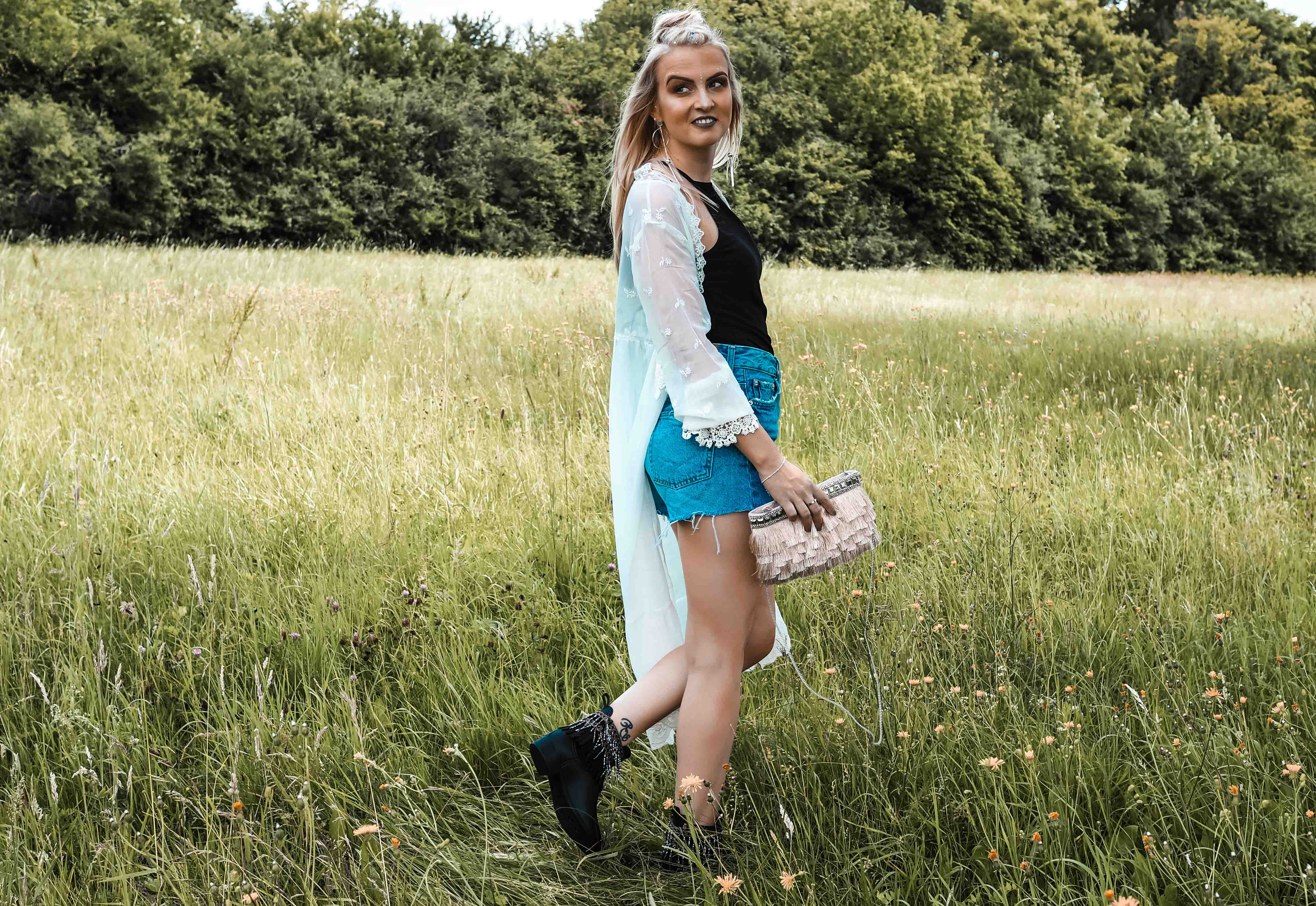 Festivallook, Festival, Outfit, ootd, Katefully, Fashionblog, Modeblog, München, Kimono, Jeans Short, Coachelle Outfit, Inspiration