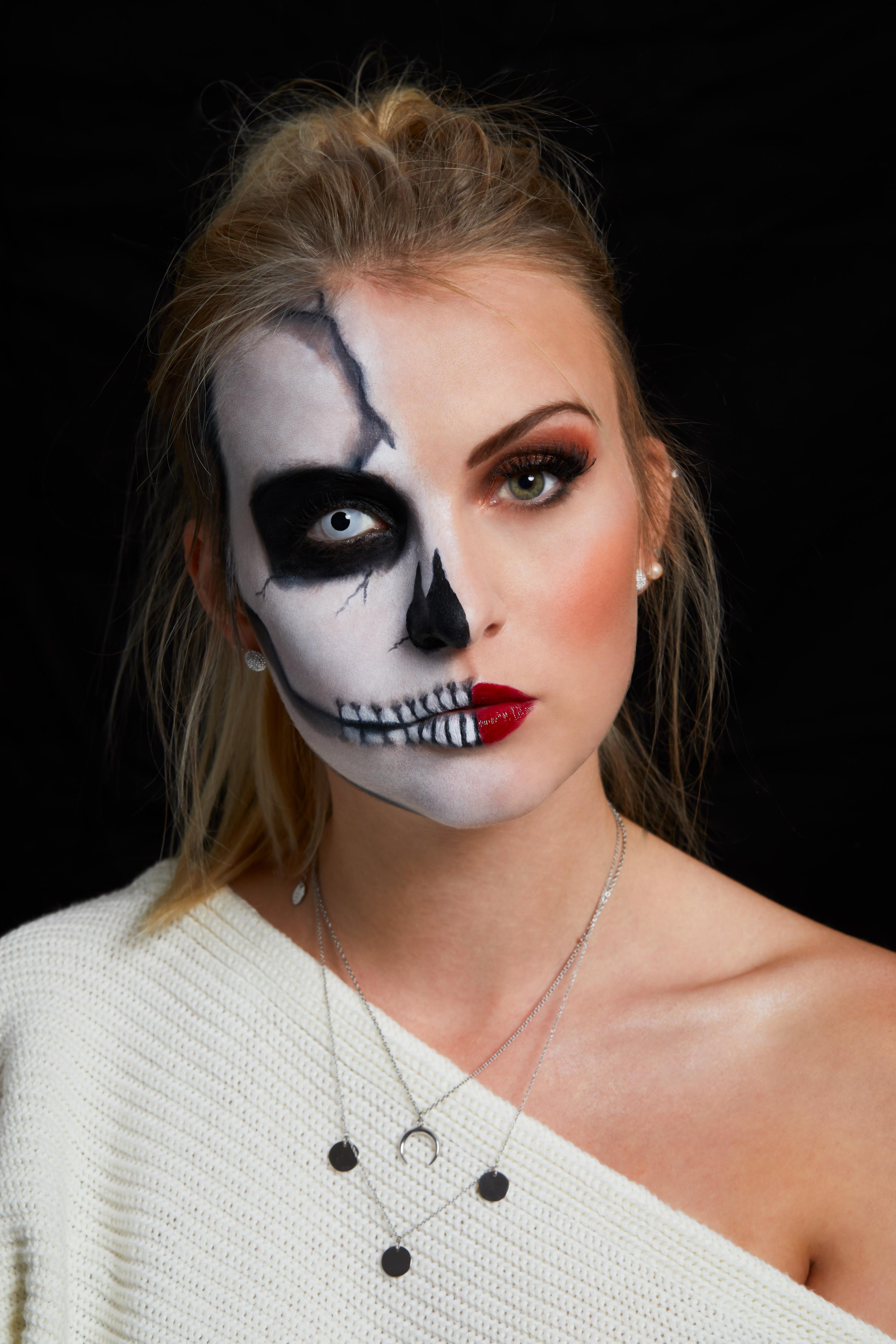 Happy Halloween Make Up Idee Katefully