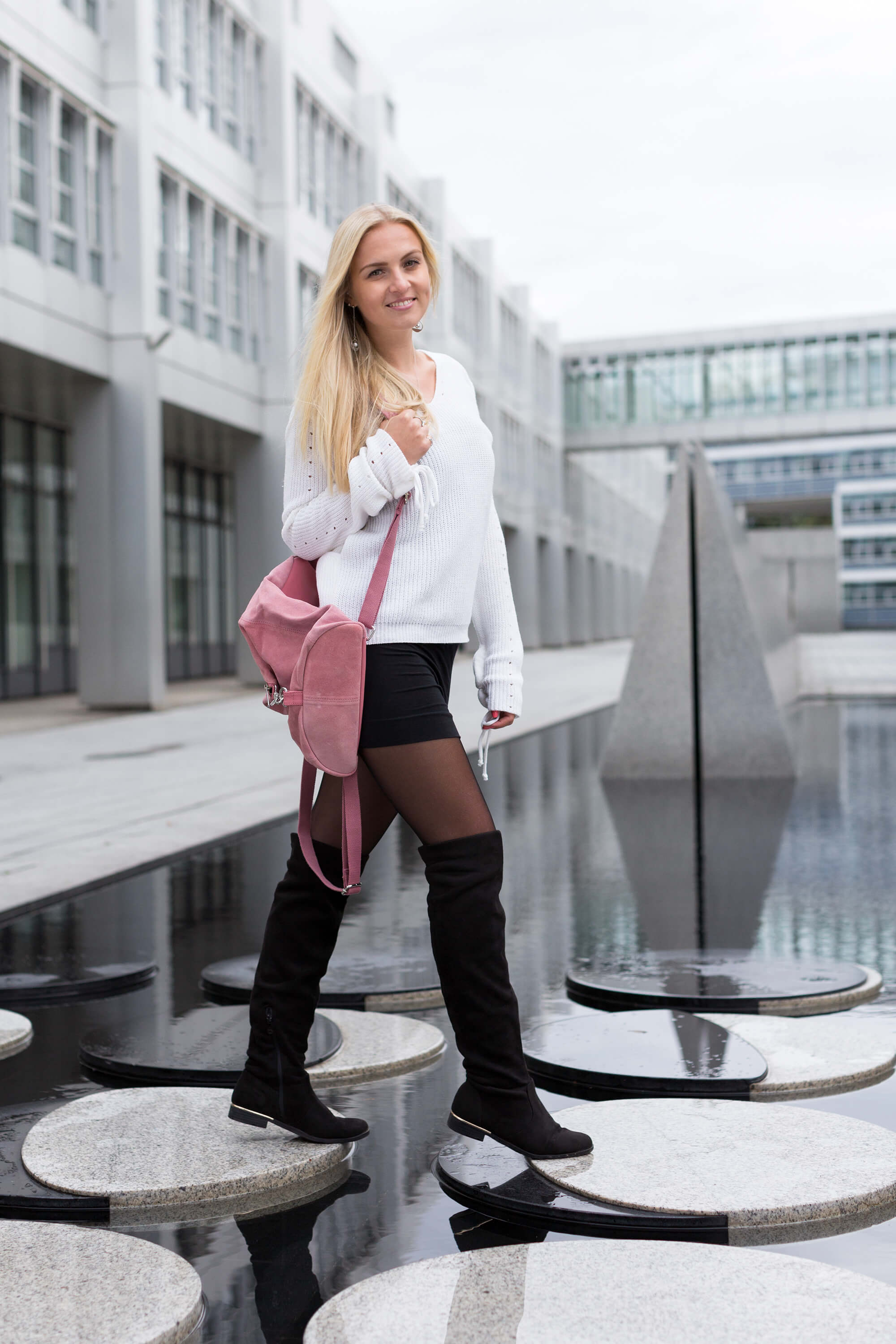Overknees richtig kombinieren Fashion Mode Blog Katefully