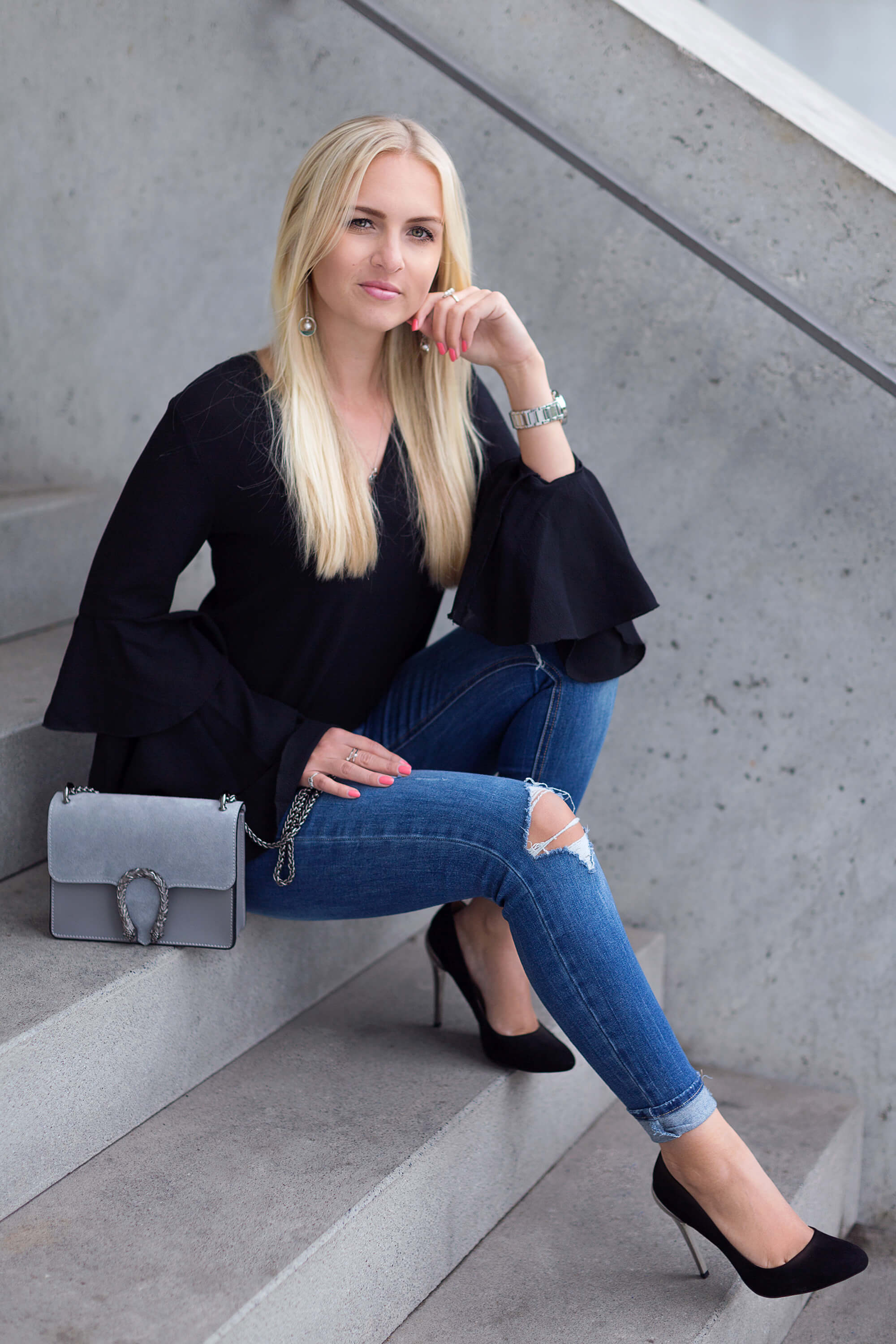 Volant Look richtig kombinieren Fashion Blog Katefully