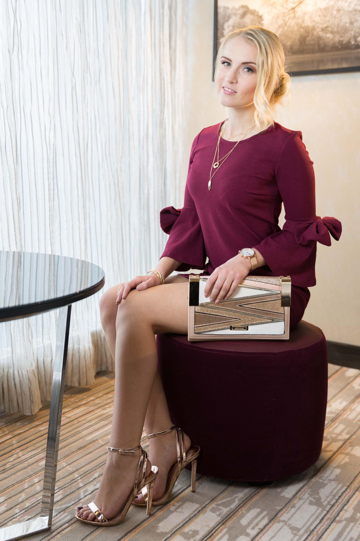 Weihnachtsoutfit Sparkling Christmas Look Fashion Weihnachten Modeblog Katefully München Kleid rot und gold